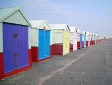 Free Perspective Of Beach Huts Royalty Free Stock Images - 19526739