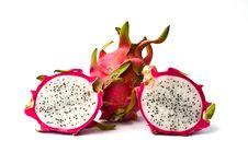 Free Fresh Dragon Fruit Isolated On White Background. Royalty Free Stock Photos - 19526758