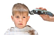 Free Boy Mows Clipper Royalty Free Stock Photography - 19526947