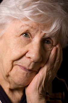 Free Portrait Of The Old Woman Royalty Free Stock Images - 19527129