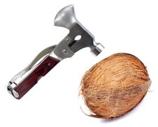 Free Breaking Coconut Royalty Free Stock Photo - 19527595