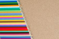 Free Colour Pencils On сorkboard Royalty Free Stock Photo - 19527615