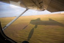 Small Aircraft Landing Royalty Free Stock Image