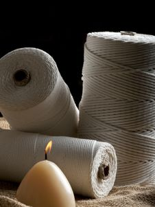 Free Wick Cord Roll Stock Photography - 19528132