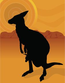 Free Kangaroo Outback Royalty Free Stock Photos - 19528638