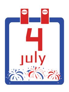 Free Independence Day,calendar Royalty Free Stock Image - 19528906