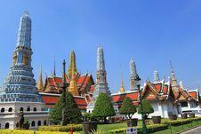 Free Wat Phra Keow, Bangkok, Thailand. Royalty Free Stock Photography - 19529057