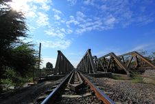 Free Metal Railway Bridge Royalty Free Stock Photos - 19529208