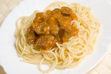 Free Spaghetti With Meat Royalty Free Stock Photos - 19529218