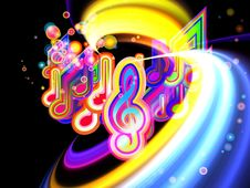 Light Of Music Stock Image