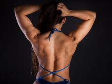 Athletic Woman Wearing Bikini Royalty Free Stock Image