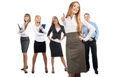 Free Businesswoman With Her Colleagues Royalty Free Stock Photography - 19529657