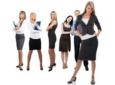 Free Confident Businesswoman With Her Colleagues Stock Images - 19529664