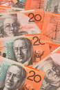 Free Australian Currency $20 Banknotes Background Stock Image - 19530101