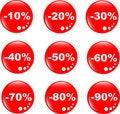 Free Discount Label Button Web Glass Icon Stock Photos - 19531343