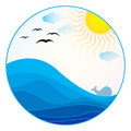 Free Sea Illustration - Summer Logo Royalty Free Stock Photo - 19534545
