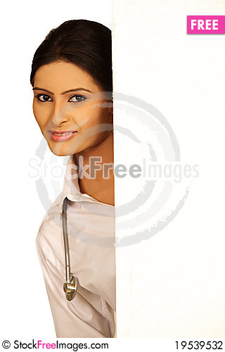 Smiling Lady doctor Stock Photo