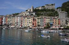 Free Portovenere, The Harbor And The Castle Royalty Free Stock Photo - 19530785