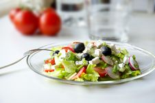 Free Plate Of Salad Royalty Free Stock Photo - 19530925