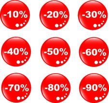 Free Discount Label Button Web Glass Icon Stock Photos - 19531343