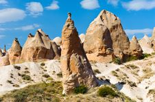 Sandstone Rocks, Cappadocia, Turkey Royalty Free Stock Image