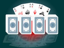 Free Poker Card Stock Image - 19532391