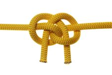 Free Liana Knot From Two Yellow Ropes Royalty Free Stock Image - 19532406