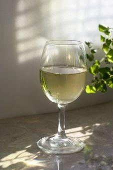 Free The Glass Of White Wine Stock Photos - 19532673