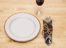 Free Knife And Fork In Textile Napkin Stock Photography - 19532932