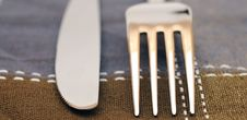 Free Close Up Fork And Knife Stock Photography - 19533002