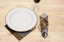 Free Knife And Fork In Textile Napkin Stock Photo - 19533020