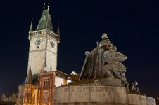 Statue Of Master Jan Hus Stock Images