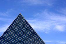 Free Glass Pyramid Architecture Royalty Free Stock Photo - 19533525