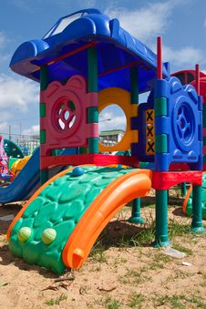 Free Colorful Of Playground Royalty Free Stock Photos - 19534088