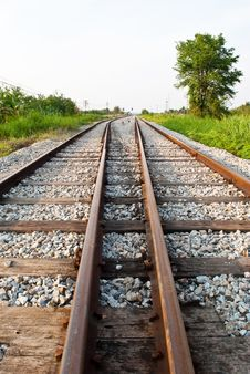 Free Two Railway To Success With Sky. Royalty Free Stock Image - 19534146