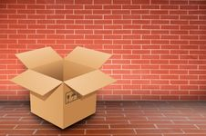 Free Boxs On Brick Wall Stock Images - 19534774
