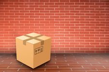 Free Boxs On Brick Wall Stock Images - 19534794