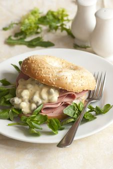 Free Filled Bagel Royalty Free Stock Photo - 19535085