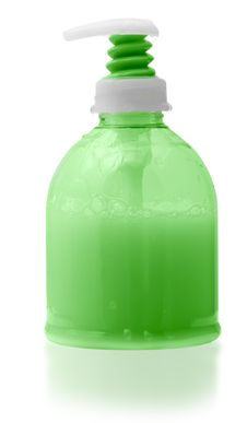 Dispenser Bottle Of Liquid Soap. Stock Image