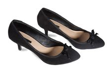 Free Women S Suede Shoes Of Black Stock Images - 19537264
