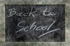 Grunge Blackboard Back To School Royalty Free Stock Image