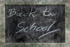 Grunge Blackboard Back To School Royalty Free Stock Image