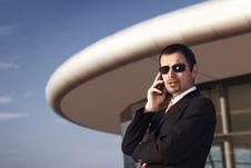 Free Business Executive On Phone. Royalty Free Stock Image - 19537426