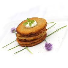 Free Potato Pancakes Royalty Free Stock Photo - 19538025