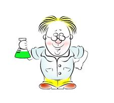 Free Image Of The Scientist In Glasses With Bulb Stock Images - 19538054