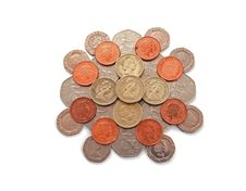Free British, UK, Coins Royalty Free Stock Photos - 19538138