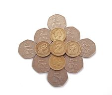 Free British, UK, Coins Stock Photography - 19538172