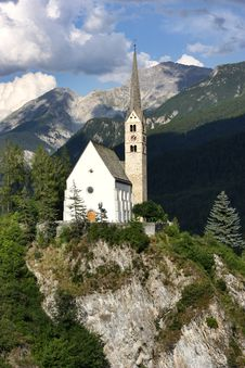 Church In The Swiss Mountains Stock Photography