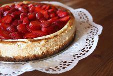 Free Home-made Strawberry Cheesecake Stock Photo - 19538240