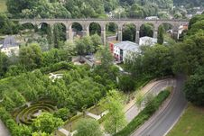 Free Railway Bridge In Luxembourg Stock Image - 19538301